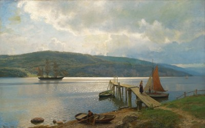 Waiting for the Fishing Ships, c.1898, Oil on Canvas