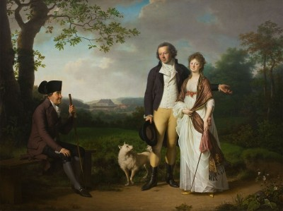 Niels Ryberg with his Son Johan Christian and his Daughter-in-Law Engelke, née Falbe, c.1797, Oil on Canvas