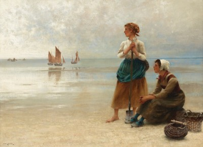 Women Gathering Oysters, c.1890, Oil on Canvas