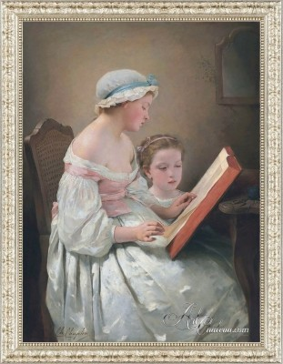 Big Sister, after 19th Century Style Painting by Charles Chaplin