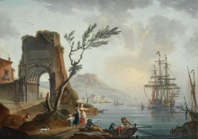 Southern Seaport with the Arch of Titus, c.1750, Oil on Canvas