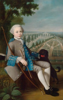 Portrait of a Boy in a Park Landscape, c.1750, Oil on Canvas