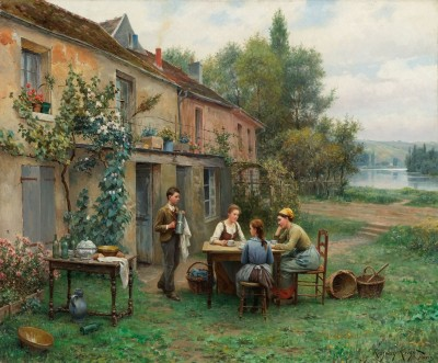Afternoon in Poissy, c.1900, Oil on Canvas