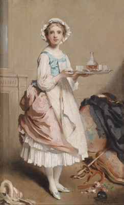 The Chamber Maid, c.1891, Oil on Canvas