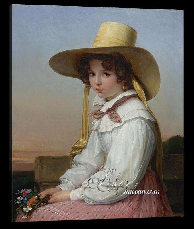 Portrait of Nency Destouches, after Auguste Vinchon