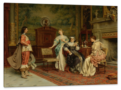 The Introduction, c.1890, Oil on Canvas