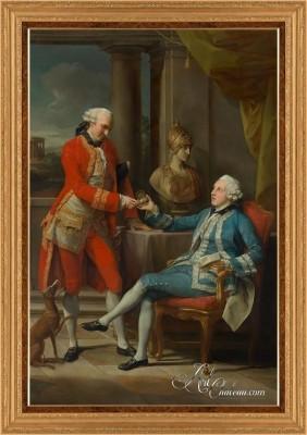 Sir Sampson Gideon and Companion, after Pompeo Batoni