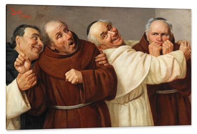 Four Merry Monks, c.1884, Oil on Canvas