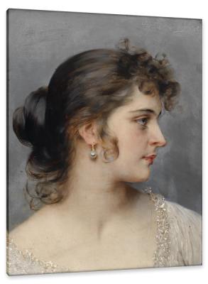 Portrait of a Young Venetian Girl, c.1900, Oil on Canvas