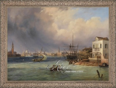 Venetian Storm Painting, after Carlo Grubas
