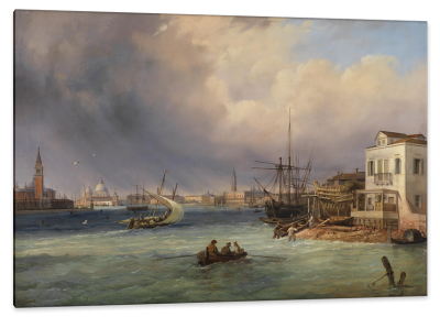 View of Venice with Approaching Storm, c.1842, Oil on Canvas