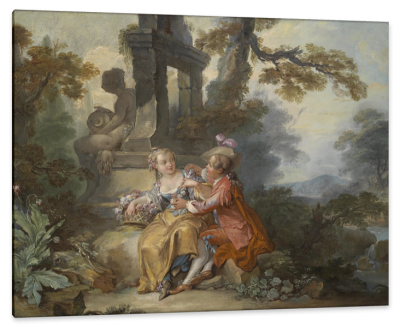 Gallant Scene with a Shepherdess and a Nobleman, c. 1750, Oil on Canvas