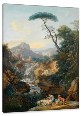 Italian Mountain Landscape with an Ancient City in the Background, c.1810, Oil on Canvas