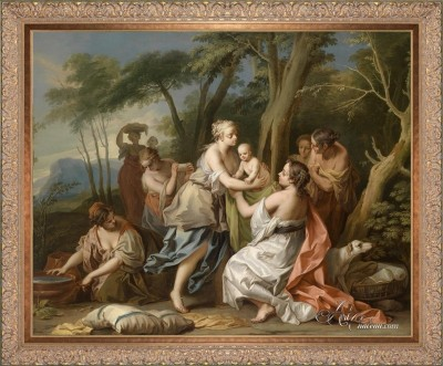 Discovery of the Child Moses, after Venetian School