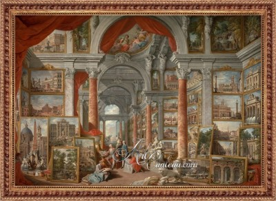 Grand Tour Painting, after Giovanni Panini