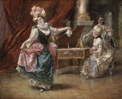 The Dance Performance, c.1874, Oil on Canvas