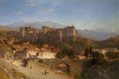 The Hill of the Alhambra, Granada, Spain, c.1865, Oil on Canvas
