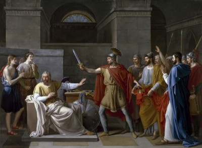 Wamba, King of the Visigoths giving up the Crown, c.1850, Oil on Canvas