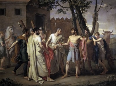Cincinato Passing Laws to Rome, c.1850, Oil on Canvas