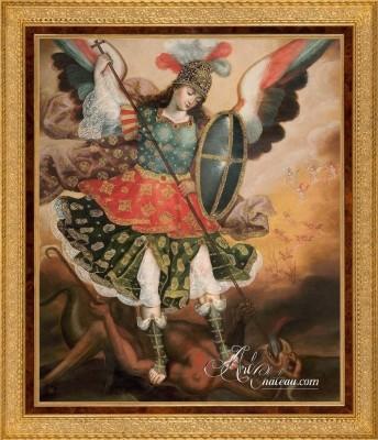 Saint Michael the Archangel, Cuzco School