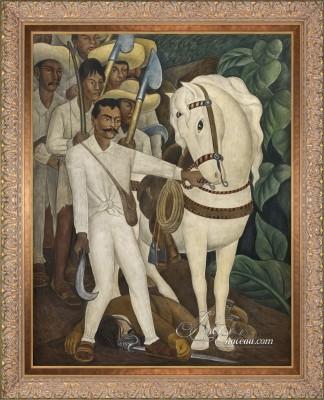 Emiliano Zapata, after Mexican artist Diego Rivera