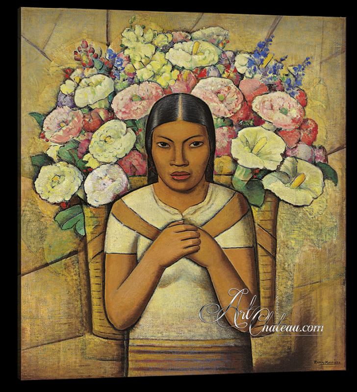 Vendedora de flores, after Alfredo Ramos Martínez