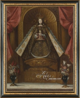 Virgin with Child, after Spanish Colonial Painting
