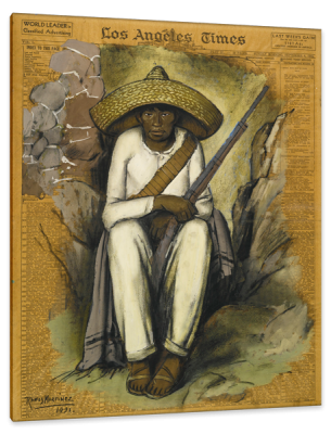 Zapatista, c.1931, Tempera and Conté on Newsprint
