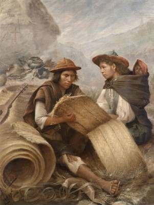 Quechua Indians In The Andes, c.1900, Oil on Canvas