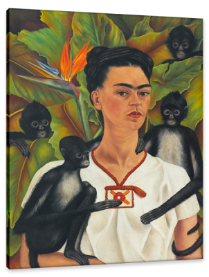 Self-Portrait With Monkeys, c.1943, Oil on Canvas