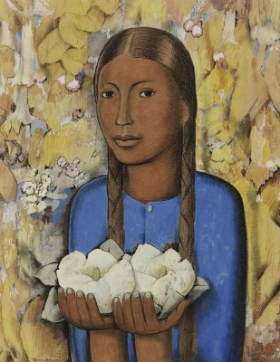 The Girl of the White Flowers, c.1926, Oil on Canvas