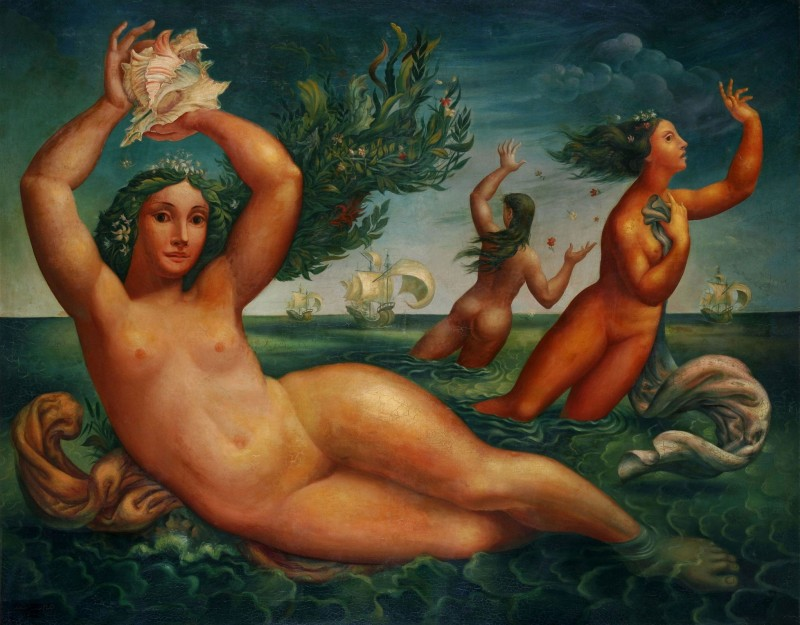 Discovery of the Caribbean, c.1940, Oil on Canvas