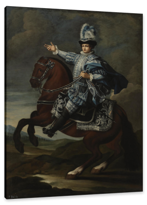 Equestrian Portrait of a Nobleman, c.17th Century, Oil on Canvas