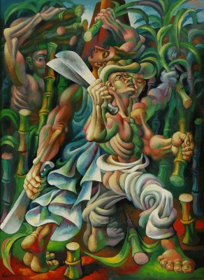 Sugar Cane Cutters, c.1940, Oil on Canvas