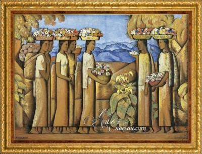 Post-Impressionism Painting, after Alfredo Martínez