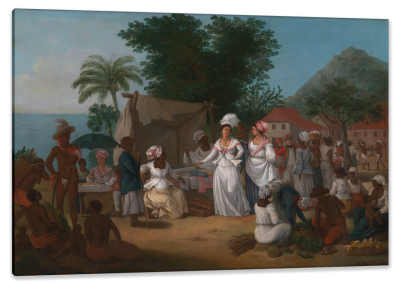 Linen Market in the West Indies, c.1780, Oil on Canvas