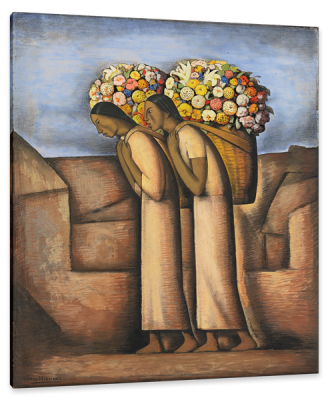 Vendedores de Flores, c.1933, Gouache and Charcoal on Board