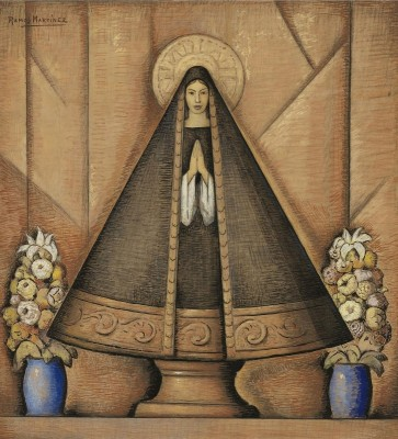 Our Lady of Solitude, c.1943 Tempera, Gouache and Charcoal on Parchment