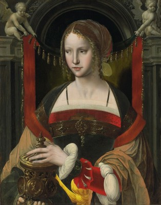 Saint Mary Magdalene with Angels, c.1550, Oil on Panel