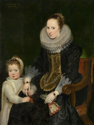 Mother and Child, c.1624, Oil on Wood Panel