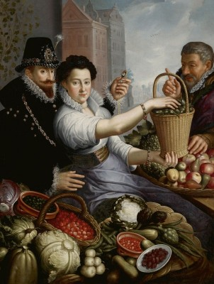 Portrait of an Aristocratic Couple as Vegetable Sellers, c.1624, Oil on Canvas