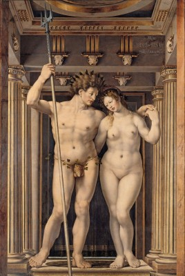 Neptune and Amphitrite, c.1516, Oil on Oak Panel