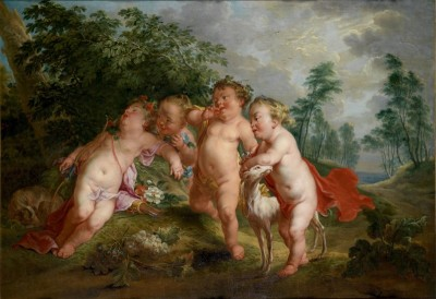 Sleeping Cupid Teased by Putti, c.1755, Oil on Canvas