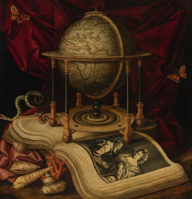 Vanitas Still Life with A Terrestrial Globe, c.1650, Oil on Canvas