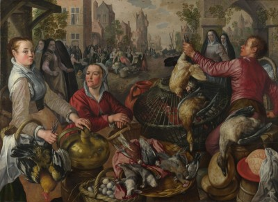 A Poultry Market with the Prodigal Son in the Background, c.1570, Oil on Canvas