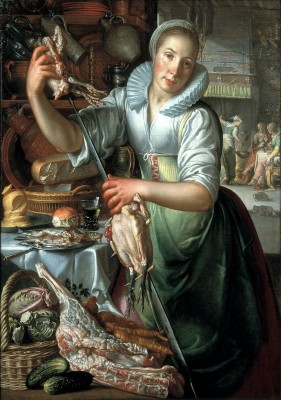 The Kitchen Maid, c.1568, Oil on Canvas