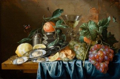 Still Life with Oysters and Grapes, c.1660, Oil On Panel
