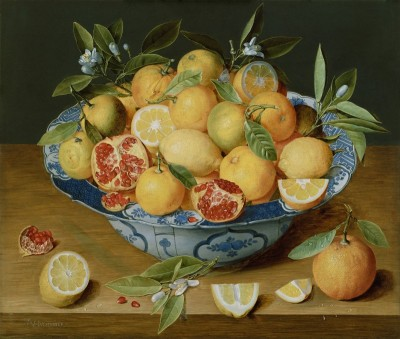 Still Life with Lemons, Oranges, and a Pomegranate, c.1640, Oil on Panel