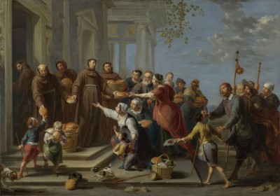 Saint Anthony of Padua Distributing Bread, c.1662, Oil on Copper