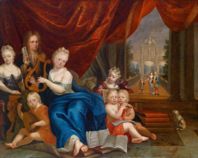 Portrait of the Pangaert d'Opdorp Family Playing Music, c.1770, Oil on Canvas